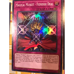Magical Musket - Fiendish Deal - spwa-en027 - Super Rare 1st Edition