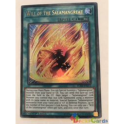 Will Of The Salamangreat -blhr-en073- Ultra Rare 1st Editi