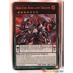 Ultimate Rare - Odd-Eyes Rebellion Dragon - CORE-EN051 1st Edition