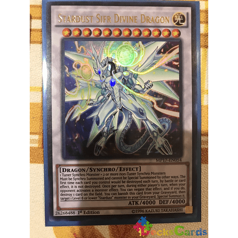 Stardust Sifr Divine Dragon MP17-EN054 1st edition Ultra Rare