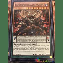 D/D/D Oblivion King Abyss Ragnarok - SDPD-EN012 - Common 1st Edition