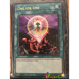 One for One - AC19-EN018 - Ultra Rare 1st Edition