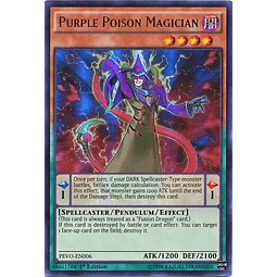 Purple Poison Magician - PEVO-EN006 - Ultra Rare 1st Edition
