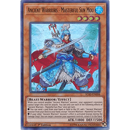 Ancient Warriors - Masterful Sun Mou - IGAS-EN008 - Ultra Rare 1st Edition