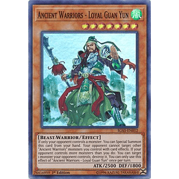 Ancient Warriors - Loyal Guan Yun - IGAS-EN012 - Super Rare 1st Edition