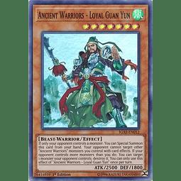 Ancient Warriors - Loyal Guan Yun - IGAS-EN012 - Super Rare 1st Edition