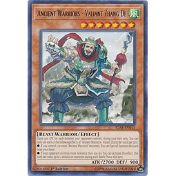 Ancient Warriors - Valiant Zhang De - IGAS-EN013 - Rare 1st Edition