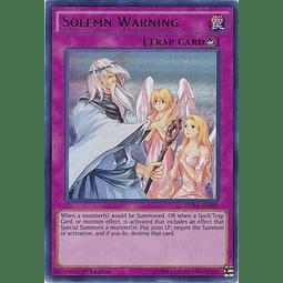 Solemn Warning - DUSA-EN085 - Ultra Rare 1st Edition