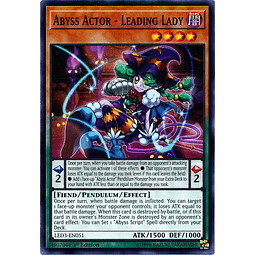 Abyss Actor - Leading Lady - LED3-EN051 - Common 1st Edition