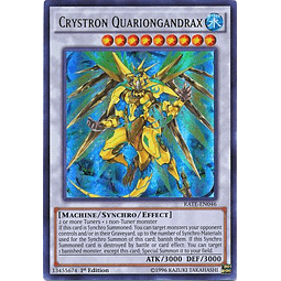 Crystron Quariongandrax - RATE-EN046 - Ultra Rare 1st Edition