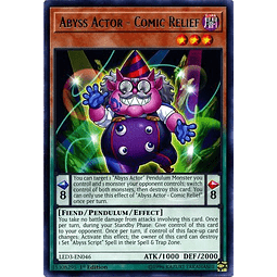 Abyss Actor - Comic Relief - LED3-EN046 - Rare 1st Edition