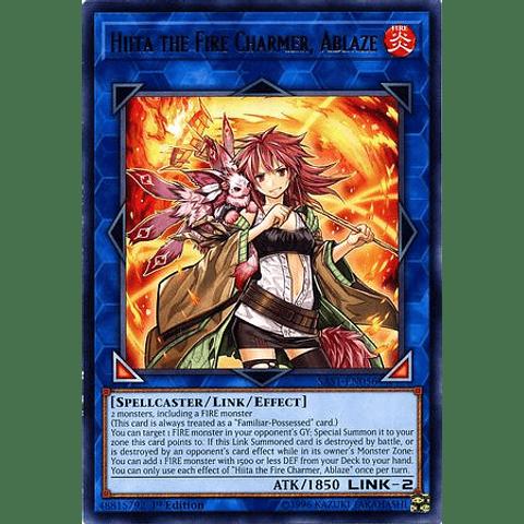 Hiita The Fire Charmer, Ablaze - Sast-en056 - Rare 1st Edition