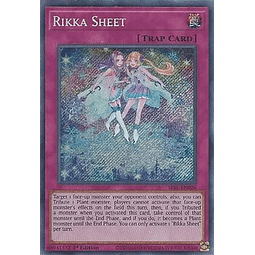 Rikka Sheet - SESL-EN026 - Secret Rare 1st Edition