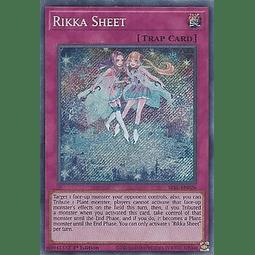Rikka Sheet - SESL-EN026 - Secret Rare 1st Edition