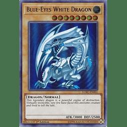 Blue-Eyes White Dragon (Blue Ripple Background) - LCKC-EN001 - Ultra Rare 1st Edition