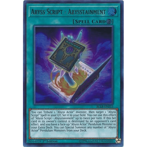 Abyss Script - Abysstainment -bllr-en013- Ultra Rare 1st Edition