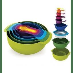 Bowls Diseños de Colores ( Set 9 unidades )