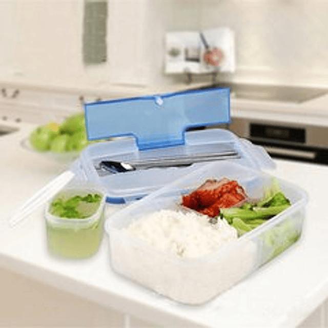 Contenedor de alimentos + cubiertos