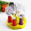 Minis Utensilios de Cocina + Soporte Circular  ( Set  7 unidades )