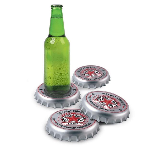 Posavasos Forma de Tapa de Botella ( Set 4 unidades )