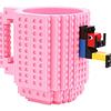 Taza Lego + Juguete Armable ( Rosado )