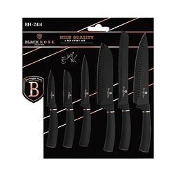Cuchillos de Acero inoxidable BLACK ROSE ( Set 6 unidades ).