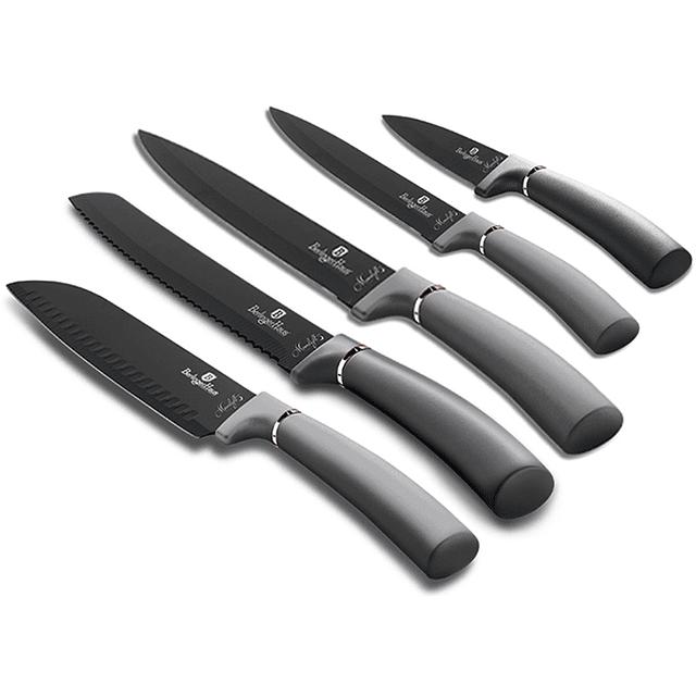 Cuchillos de Acero inoxidable MOONLIGHT + Soporte Magnético ( Set 6 unidades )