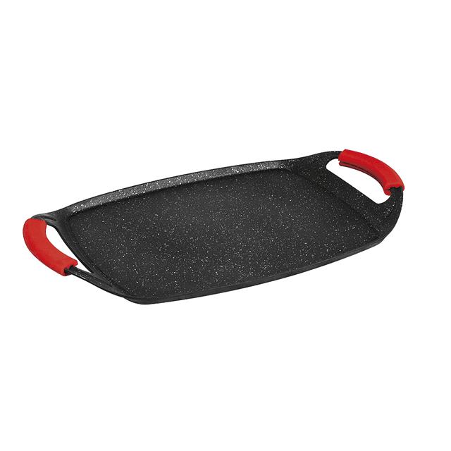 Plancha Parrillera para Asar BURGUNDY BLACK