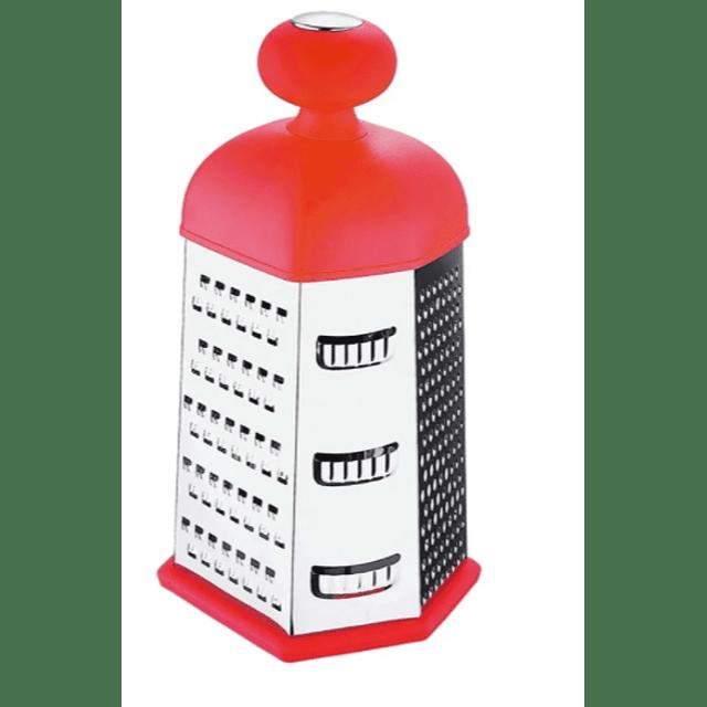 Rayador de 6 caras ( Rojo )