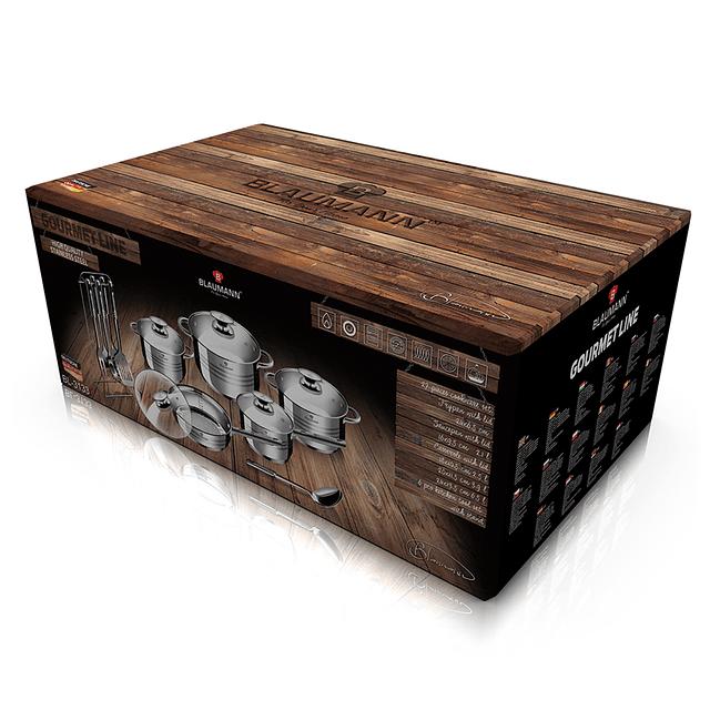 Batería de Cocina GOURMET de Acero inoxidable ( Set 17 unidades )