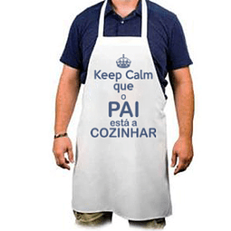 "Avental Personalizado  ""Keep Calm Pai"""