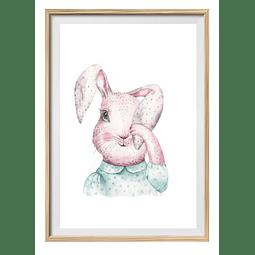 Cuadro Conejo ojo tapdo
