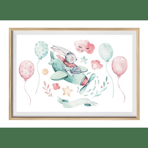 Cuadro Conejo Volando