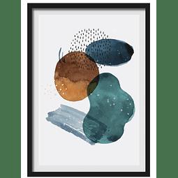 Cuadro Abstracto c'rculos 3