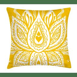 Funda Cojín Formas Amarillas