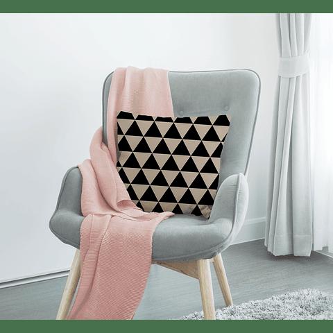 Cojín Triángulos Negros