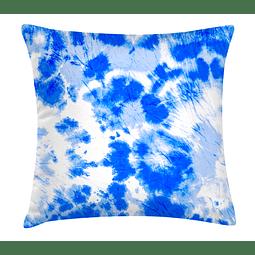 Cojín Blanco y Azul