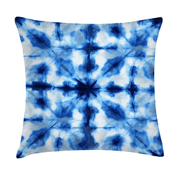Cojín Blanco y Azul 2