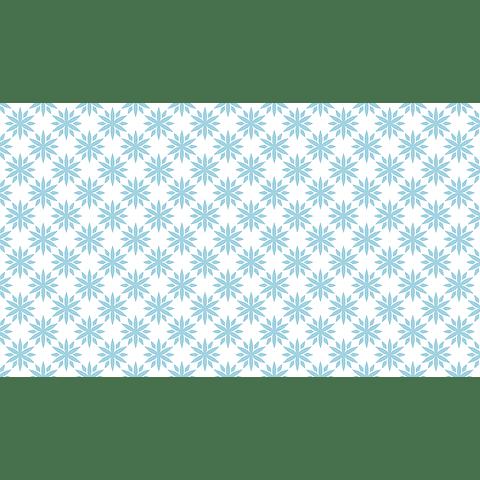 mantel Blanco Flores Azul