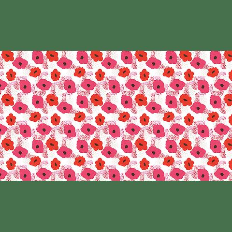 Mantel Flores Rojas