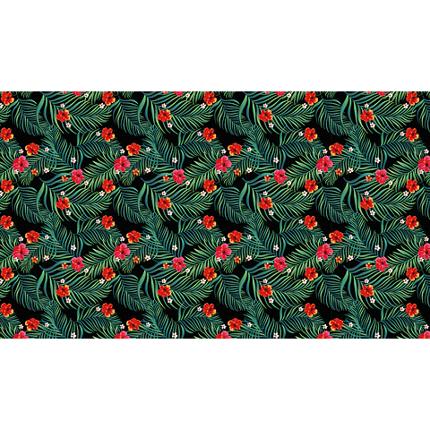 Mantel Helechos y Flores