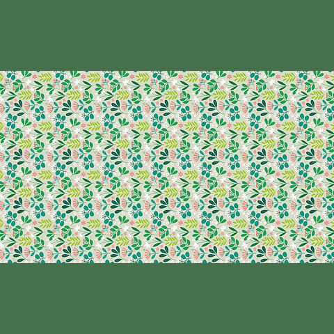 Mantel Flores Verdes