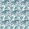 Mantel Helechos Azul