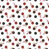 Mantel Círculos Rojo y Negro