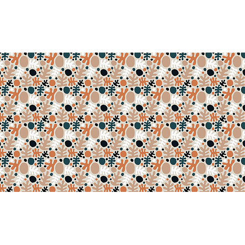 Mantel Gotas y Formas Sinuosas