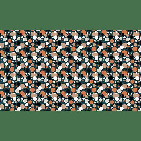 Mantel Flores en Fondo Beige