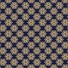 Mantel Flores Doradas Fondo Azul