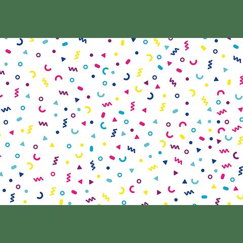 Individual de Papel Símbolos Coloridos