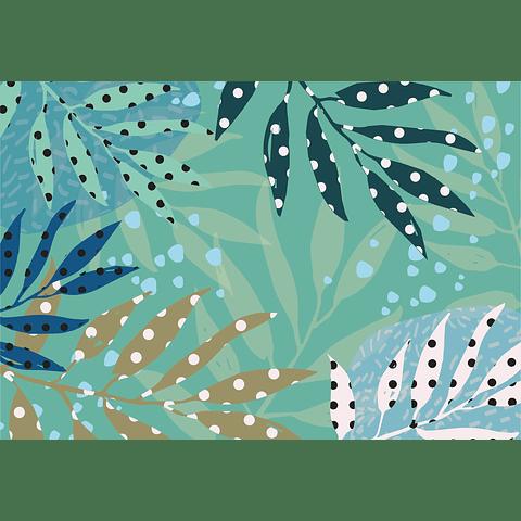 Individual de Papel Selva Verde