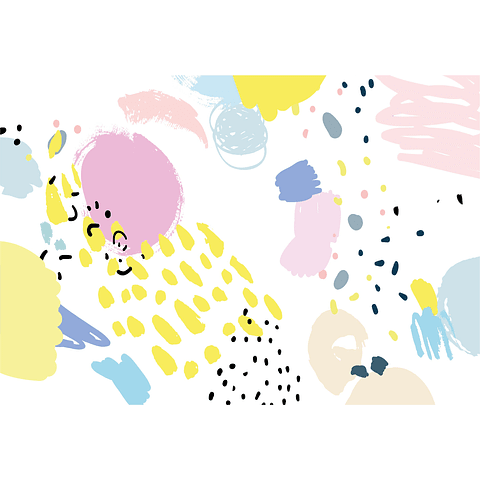 Individual de Papel Manchas Color